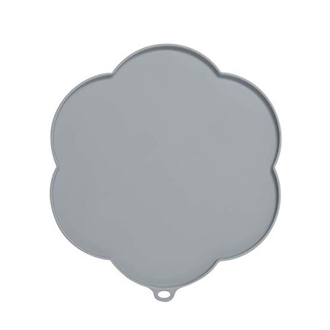 Silicone Flower-Shaped Placemat Grey