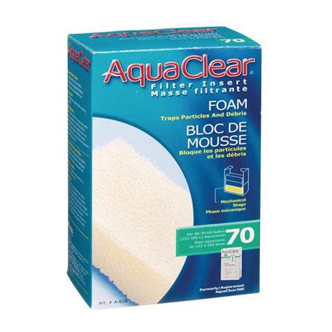 Foam Mechanical & Biological Filter Inserts for the AquaClear 70 Power Filter