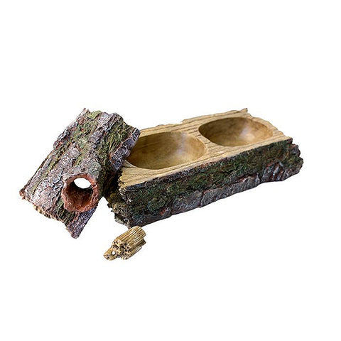 Forest Dual Feeder Resin Reptile Decoration & Food Bowl