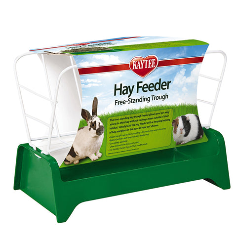 Free Standing Trough Hay Feeder for Small Animals