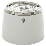 Catit Fresh & Clear Stainless Steel Top White Electronic Drinking Fountain
