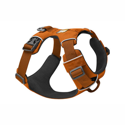 Front Range Everyday Padded Dog Harness Campfire Orange