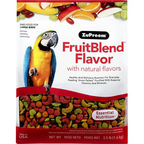 Fruit Blend Flavor Bird Food Pellets For Large Birds