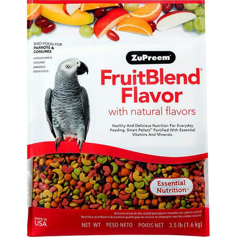 Fruit Blend Flavor Bird Food Pellets For Parrots & Conures