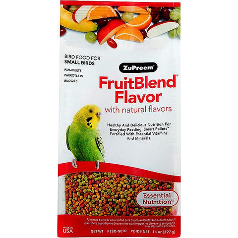 Fruit Blend Flavor Bird Food Pellets For Small Birds