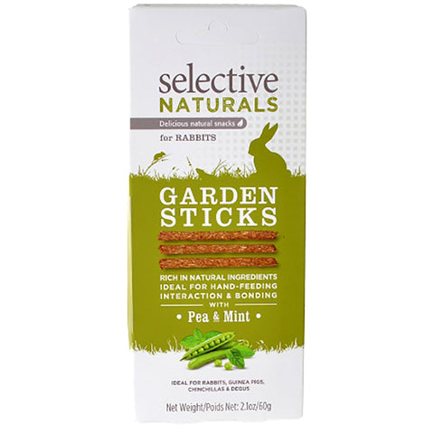 Selective Naturals Garden Sticks with Pea & Mint Rabbit Natural Crunchy Treats