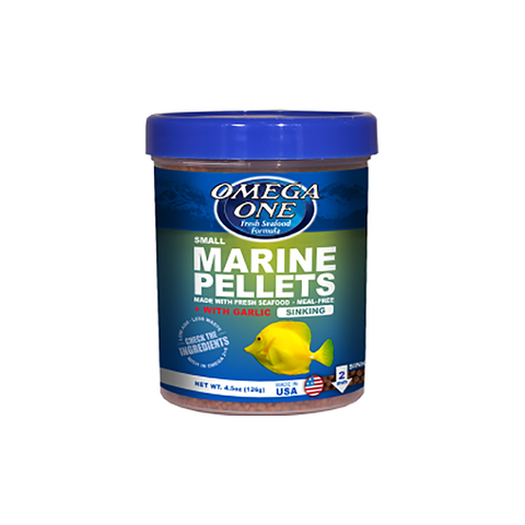 Small Sinking Marine Pellets with Garlic Fish Food