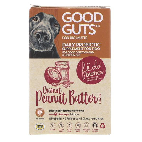 Good Guts Coconut Peanut Butter Flavor Big Mutts Probiotic Dog Supplement