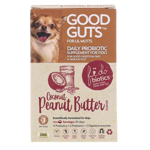 Good Guts Coconut Peanut Butter Flavor Lil Mutts Probiotic Dog Supplement