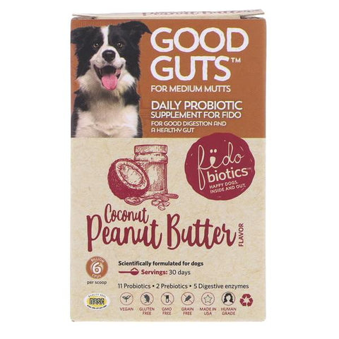 Good Guts Coconut Peanut Butter Flavor Medium Mutts Probiotic Dog Supplement