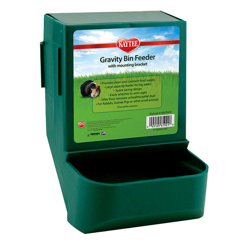 Gravity Bin Feeder Plastic Small Animal Mountable Feeder