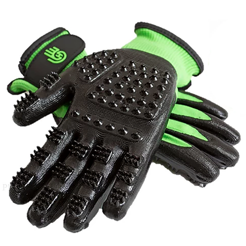 HandsOn Grooming Gloves for Small Hands Green