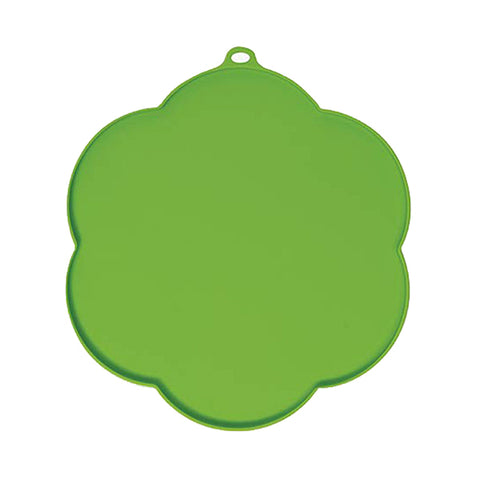 Silicone Flower-Shaped Placemat Green