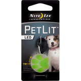 PetLit LED Collar Attachment Green Paw