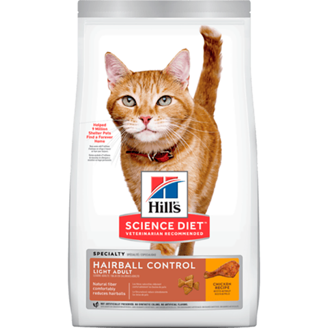 Hairball Control Light Dry Mature Cat Food