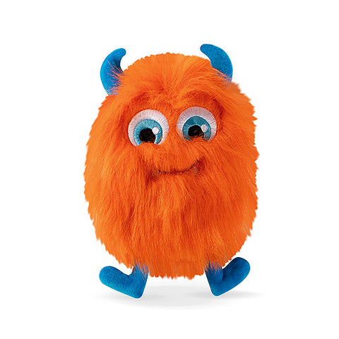 PetShop Harry the Hairy Orange Monster Fuzzy & Squeaky Plush Dog Toy