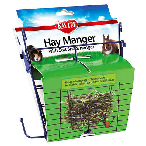 Hay Manger Feeder with Salt Hanger for Small Animals