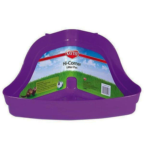 Hi Corner High Back Corner Plastic Small Animal Litter Pan