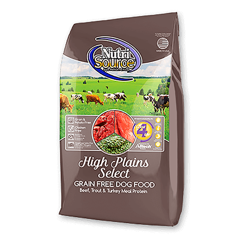 High Plains Select Grain-Free Beef & Trout Dry Dog Food