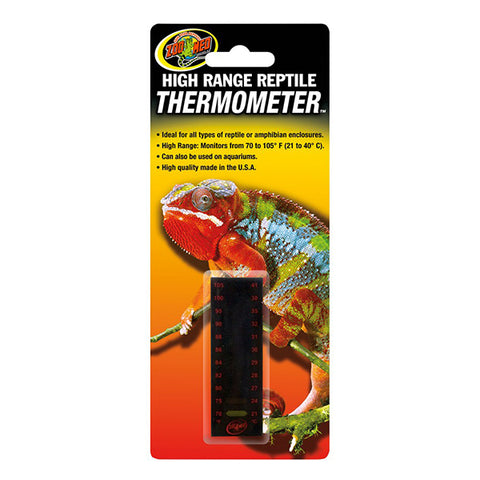 High Range Reptile Thermometer LCD Adhesive Temperature Monitoring System