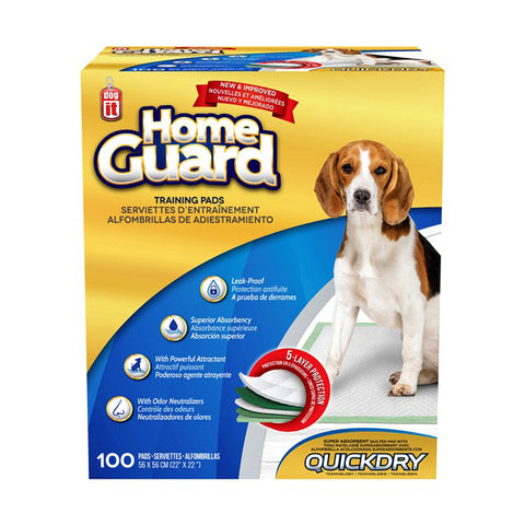 Home Guard Quick Dry Training Pads 100 Pack