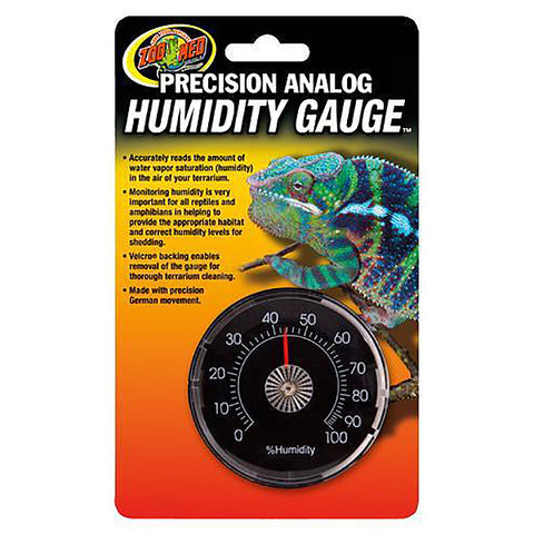 Precision Analog Hygrometer Terrarium Humidity Gauge with Velcro