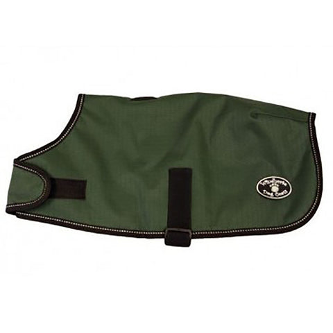 Sherpa-Lined Waterproof Dog Coat Hunter Green