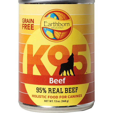 K95 Beef 95% Real Beef Grain-Free Wet Canned Dog Food