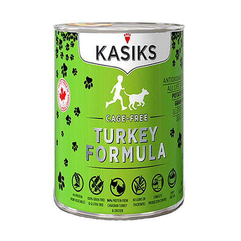 KASIKS Cage-Free Turkey Formula Grain-Free Wet Canned Dog Food