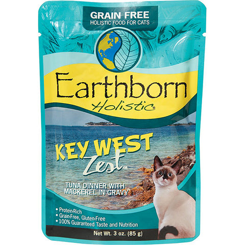 Key West Zest Tuna Dinner with Mackerel in Gravy Grain-Free Wet Pouch Cat Food