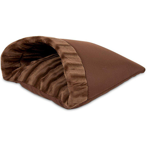 Kitty Cave Soft Hideout Cat Bed Brown
