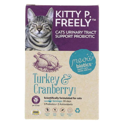 Meowbiotics Kitty P. Freely Turkey & Cranberry Flavor UTI Support Probiotic Cat Supplement