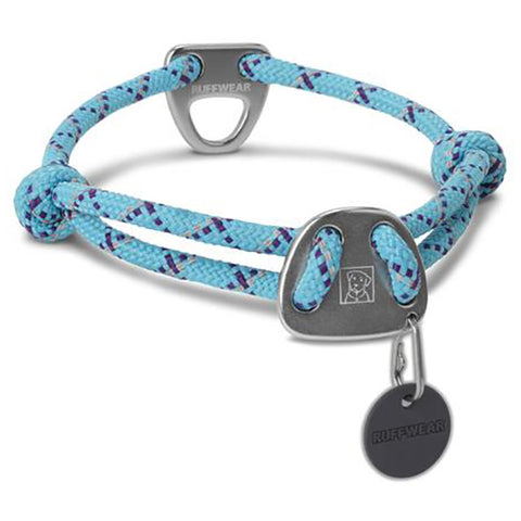 Knot-A-Collar Reflective Rope Dog Collar Blue