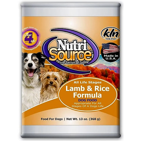Lamb & Rice Formula Wet Canned Dog Food