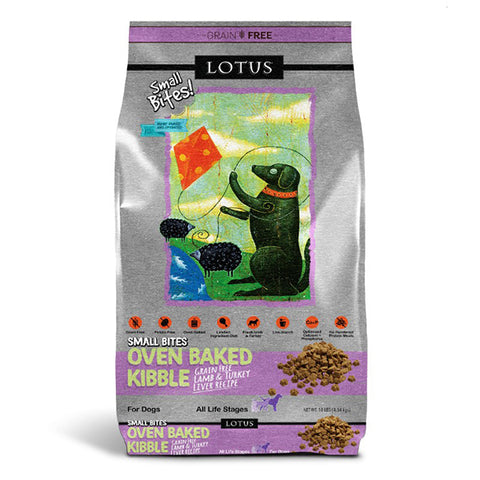 Oven Baked Lamb & Turkey Recipe Small Bites Grain-Free Dry Dog Food