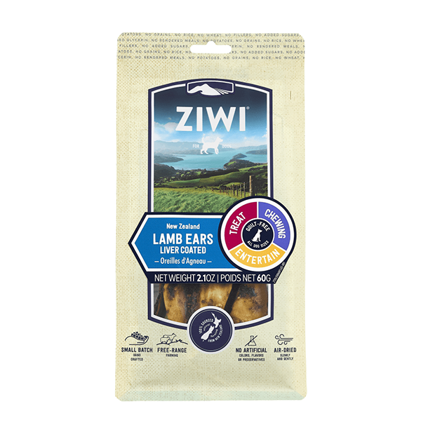 New Zealand Liver-Coated Lamb Ears Grain-Free Dog Chews