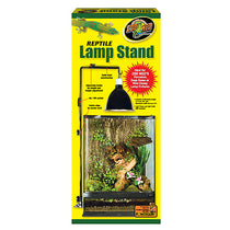Adjustable Reptile Lamp Fixture Stand Black