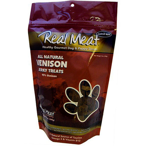 Jerky Large Bitz 95% Venison Grain-Free Soft Dog Treats