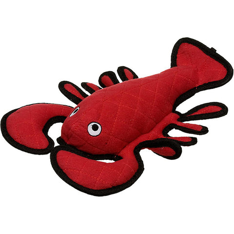 Tuffy's Larry Lobster Red Durable Squeaky Fabric Plush Dog Toy