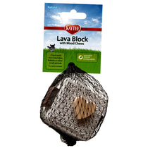 Lava Block with Wood Chews Volcanic Stone & Wood Small Animal Chew Toy
