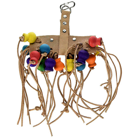 Bird Life Leather Kabob Hanging Bird Toy