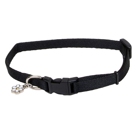 Li'l Pals Adjustable Nylon Dog Collar Black