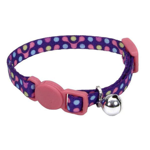 Li'l Pals Adjustable Breakaway Kitten Collar Purple Gear Pattern