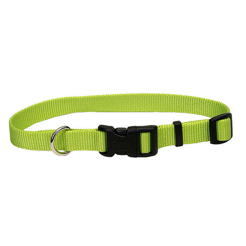 Adjustable Nylon Collar with Tuff Buckle Lime