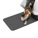 Textured Litter Mat Grey