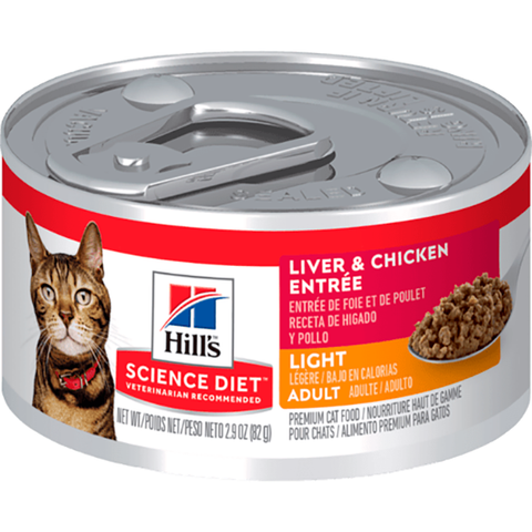 Adult Light Liver & Chicken Entrée Wet Canned Cat Food