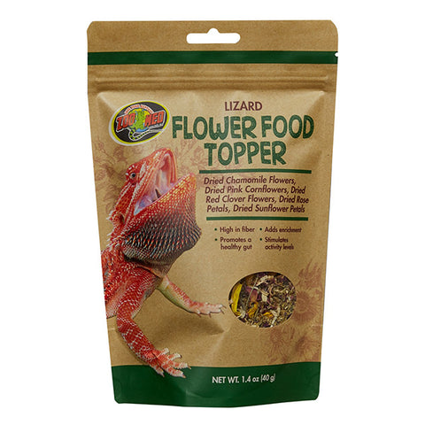 Lizard Flower Food Topper Reptile Food Supplement