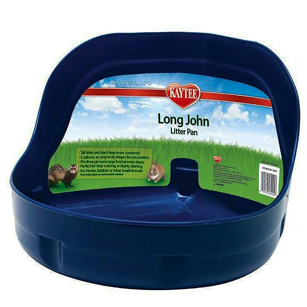 Long John High Sided Plastic Small Animal Litter Pan