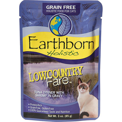 Lowcountry Fare Tuna Dinner with Shrimp in Gravy Grain-Free Wet Pouch Cat Food