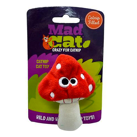 Mad Cat Magic Meowshroom Catnip & Silvervine Plush Cat Toy